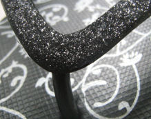 glitter thongs black